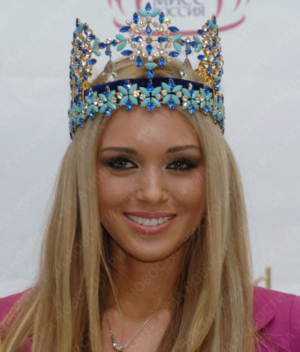 Miss World Ksenia Sukhinova arrived in Moscow