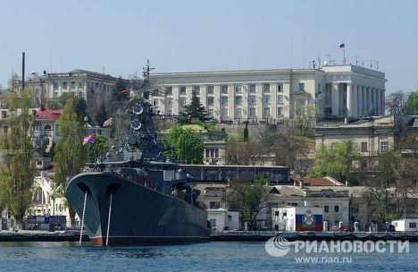 Russia's Black Sea Fleet warships in Sevastopol