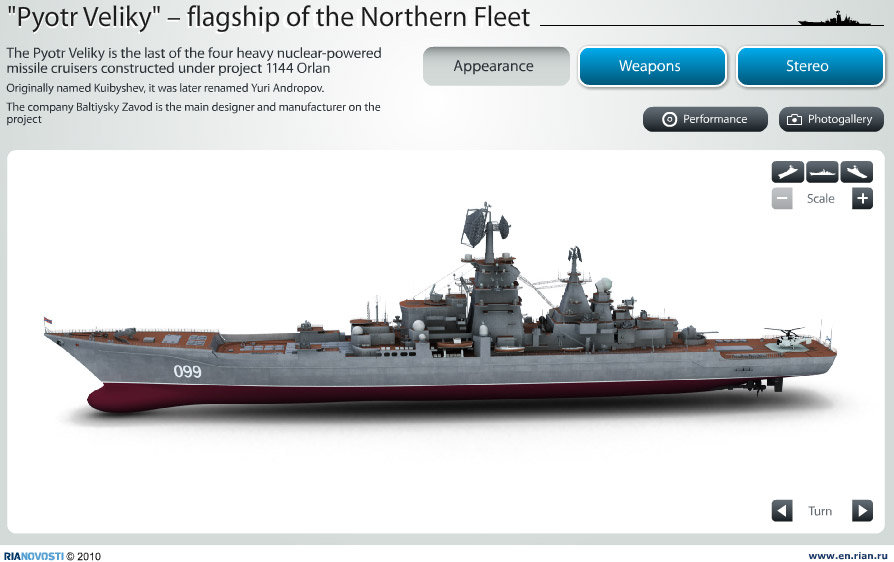 Pyotr Veliky – flagship of the Northern Fleet