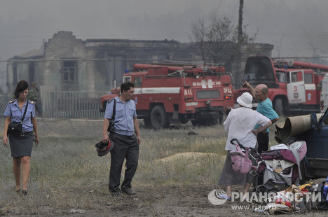 Voronezh encircled by fire