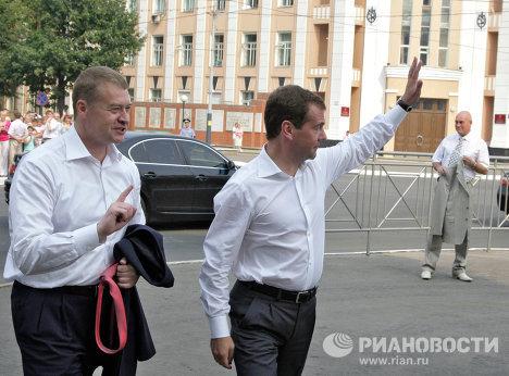 President Medvedev visits drought-hit Russian republic Mari El