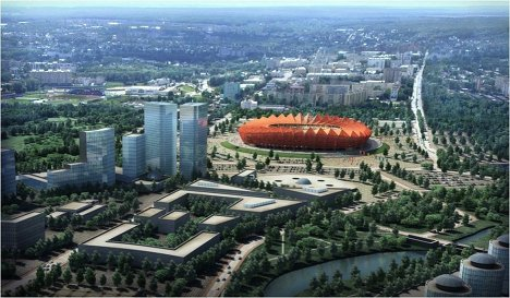 Models of Russian stadiums for World Cup 2018