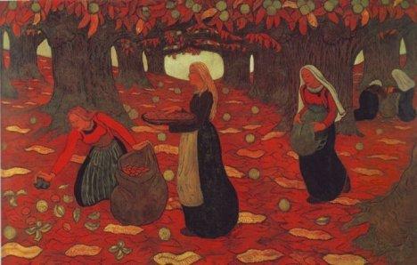 Осень. Сборщицы орехов (Georges Lacombe)