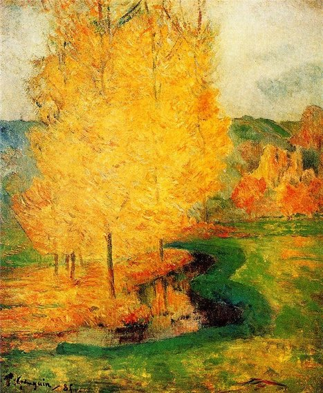 By the Stream, Autumn by Paul Gaugin