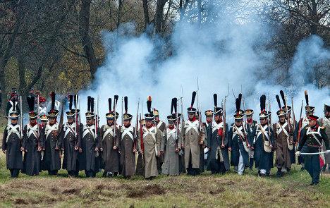 Reenacting the 1812 Patriotic War near Maloyaroslavets