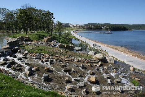Набережная острова Русский во Владивостоке