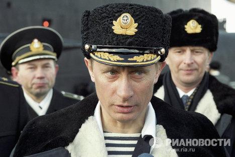 Путин наблюдает за учениями Северного флота