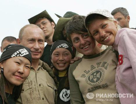 Поездка президента РФ В.Путина в Тыву.