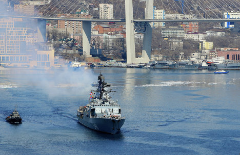 Отряд кораблей ТОФ вышел на боевую службу