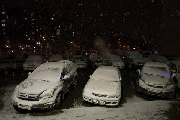 Майский снегопад в Томске