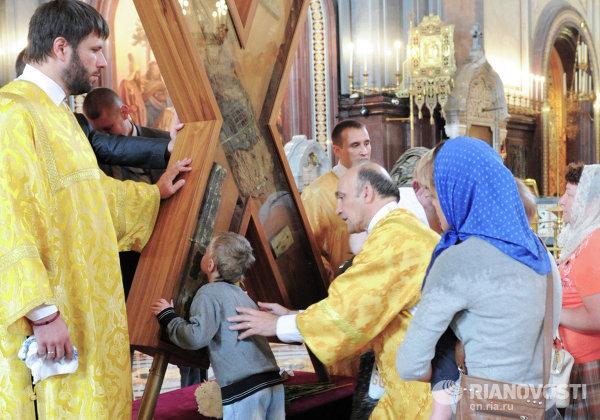 Крест апостола Андрея Первозванного в Храме Христа Спасителя