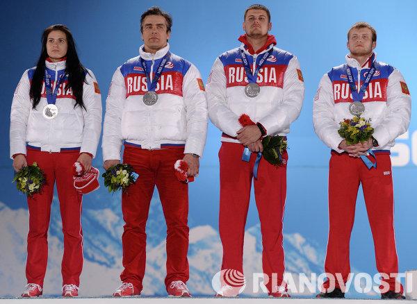 Татьяна Иванова, Альберт Демченко, Александр Денисьев и Владислав Антонов