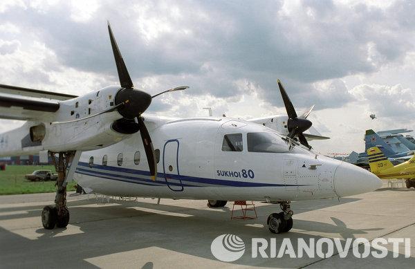 Многофункциональный грузопассажирский самолет Су-80 ГП на 6-м Международном авиакосмическом салоне МАКС-2003
