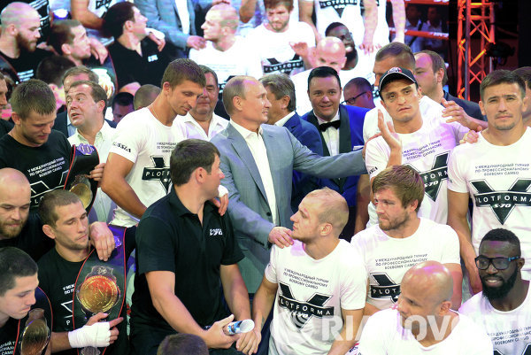 Vladimir Putin attends Plotforma S-70 combat sambo tournament in Sochi