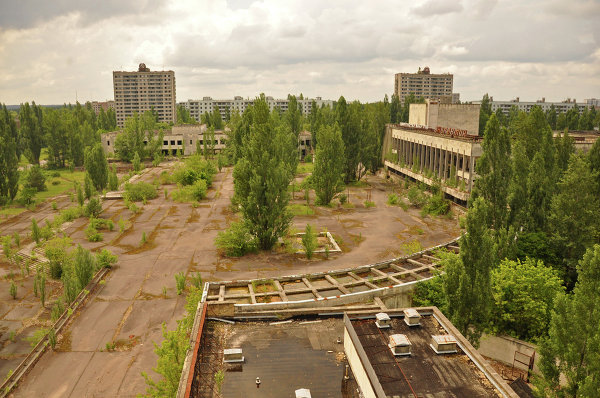 View from a hotel in Pripyat.