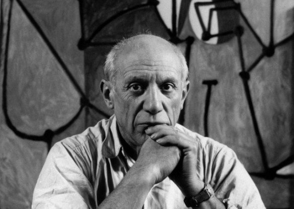 FRANCE. Paris. Rue des Grands Augustins. Pablo PICASSO at his studio in front of La Cuisine. 1948.