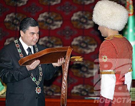 Turkmen president's inauguration ceremony