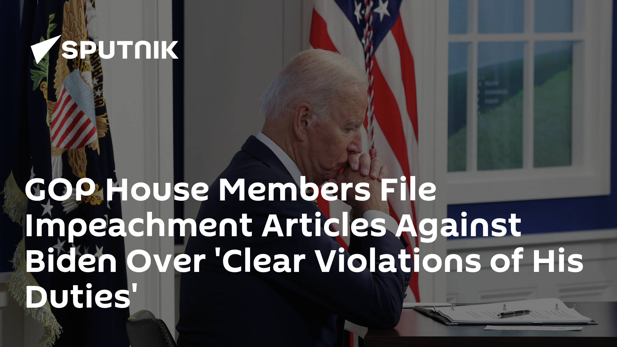 GOP House Members File Impeachment Articles Against Biden Over 'Clear Violations of His Duties'